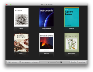 Plantillas de iBooks Author