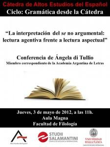 Conferencia de Ángela di Tullio
